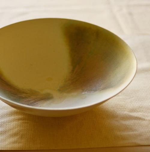 徳山久見子 shell marble(ブルーグリーン) サラダボウル