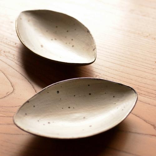 奥田章 ひびわれアーモンド皿19cm