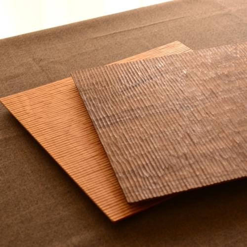 ふるいともかず 木製さざ波プレート(正方形)30.5cm
