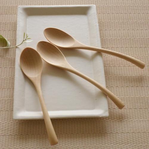 後藤文生 天然木スープスプーン(小)16cm
