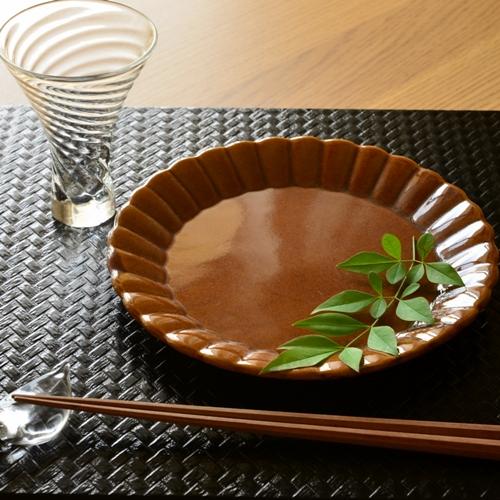 長尾徳太郎 マーガレット皿19.8cm