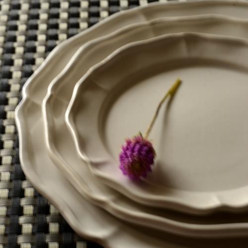 長尾徳太郎 西洋花形皿 16.5cm