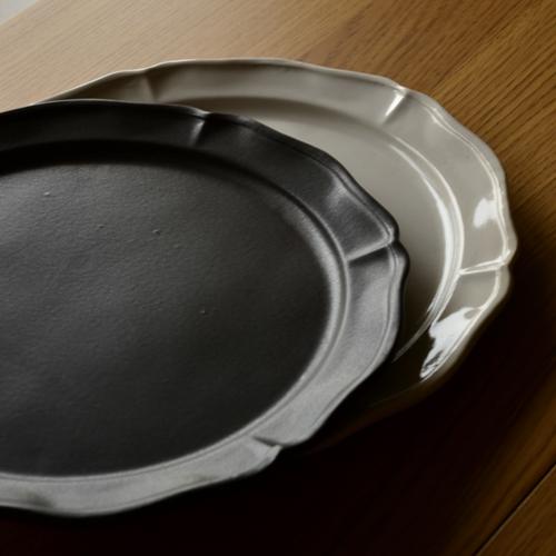 長尾徳太郎 西洋花形ラウンド皿 26cm