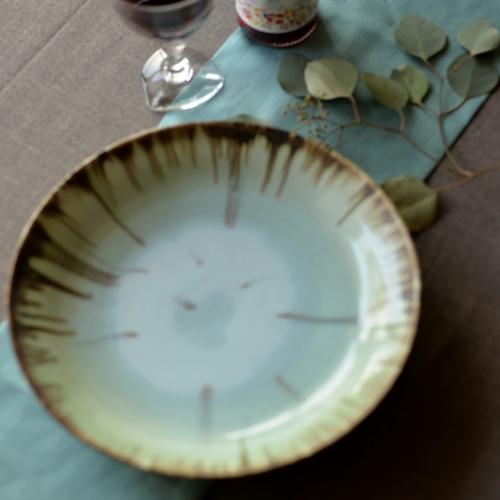 紫蓮 monet 大皿27.5cm