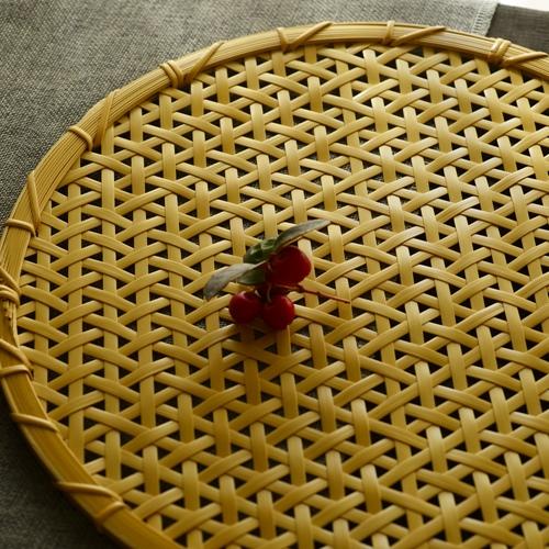 清水貴之 竹製折敷(麻の葉 flat) 四ツ目編み