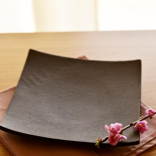 橋本忍 錆黒(sabikuro)正角鉢