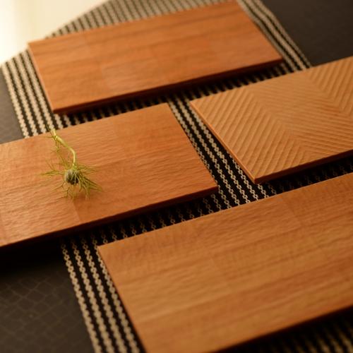 後藤文生 天然木 コースタープレート20cm(i~l)