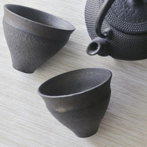 橋本忍 皹黒湯飲み