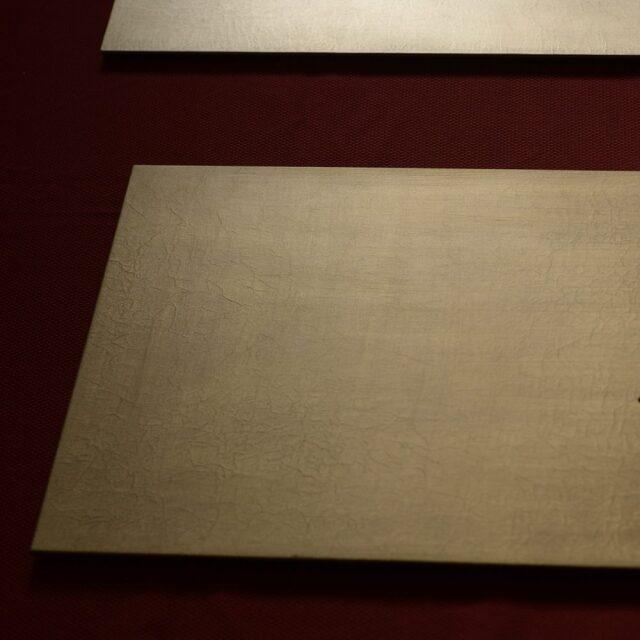冨樫孝男 シャンパンゴールド ランチマット (漆の折敷)