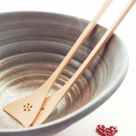 竹製サラダサーバー銀杏