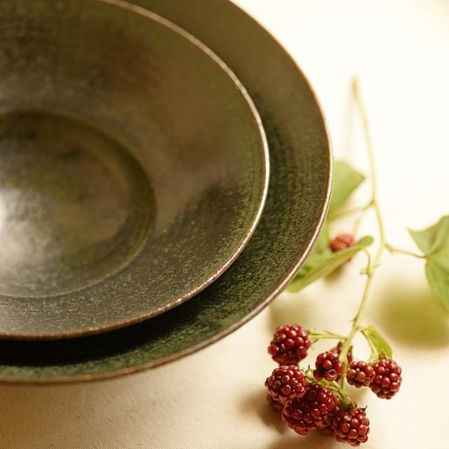 水野幸一 織部 リム鉢