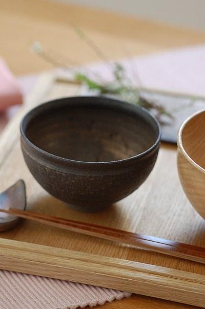 銅彩釉姫茶碗