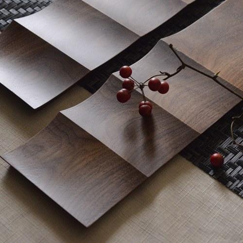 大澤真琴 天然木 板皿 波