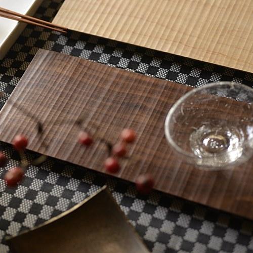 大澤真琴 天然木 板皿(長皿)しのぎ