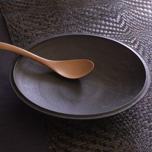 大野香織 銹黒クープ皿