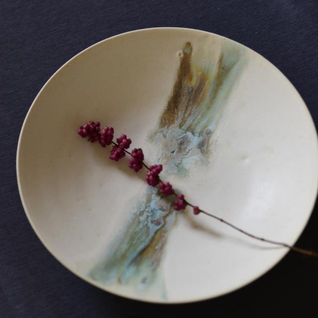 紫蓮 shell marble 鉢