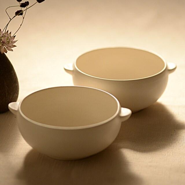 藤田千絵子 半磁 ivory スープわん