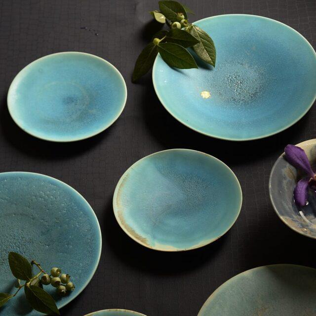 紫蓮  turquois プレート