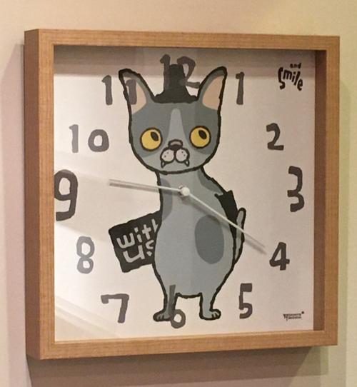 掛け時計・ネコ[アイボリー・武内祐人]