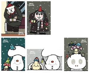 クリスマスカード-C(サラリーマン&キノッピーズ) [アイボリー・武内祐人]