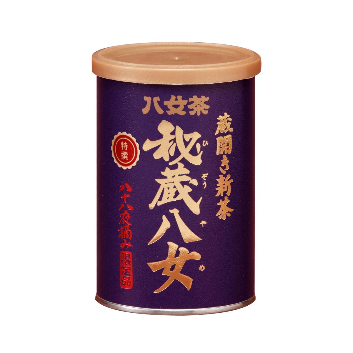 【シ】蔵開き新茶・特選秘蔵八女ゴールドキャップ(缶) 100g
