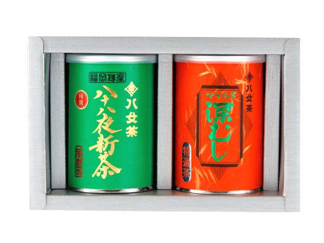 【G-251・キチ】特選八十八夜新茶・マイルド深むし特選 100g×2缶ギフトセット