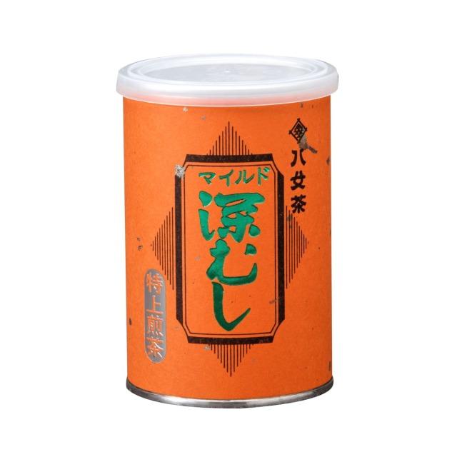 【フ】マイルド深むし・特上煎茶(缶) 100g