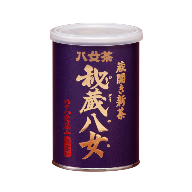 【コ】蔵開き新茶・秘蔵八女(缶) 100g