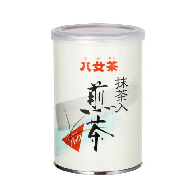【400】抹茶入り煎茶ティーバッグ(缶) 5g×15ヶ入<お湯出し・水出し可>
