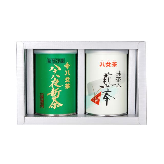 【G-195・ア400】八十八夜新茶・抹茶入り煎茶ティーバッグ缶 100g×2缶ギフト