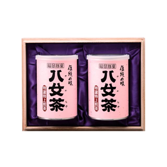 【G-212・サ】特選特上煎茶 100g×2缶木箱ギフト