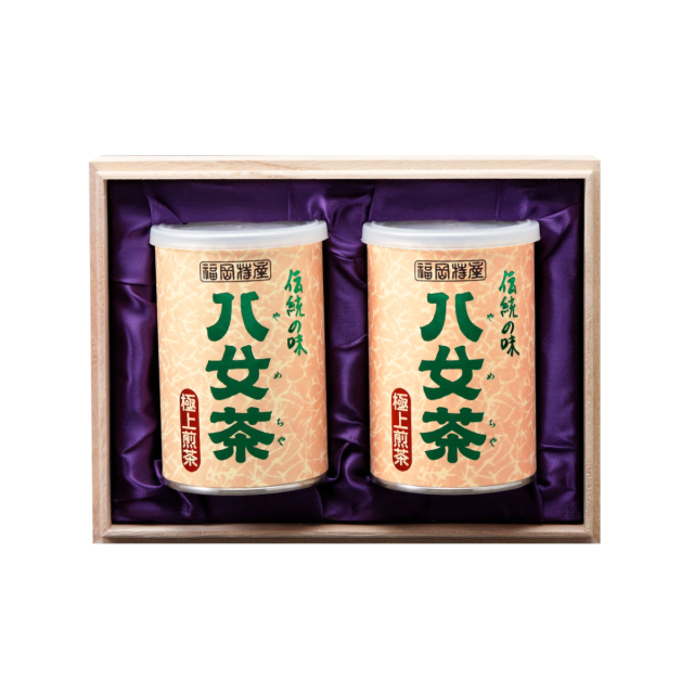 【G-213・ホ】極上煎茶 100g×2缶木箱ギフト