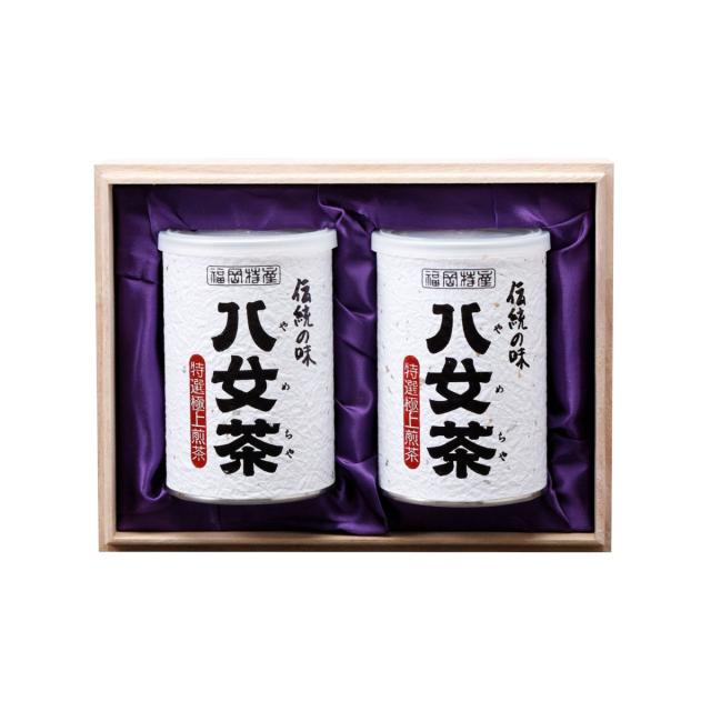 【G-214・ヘ】特選極上煎茶 2缶木箱ギフト