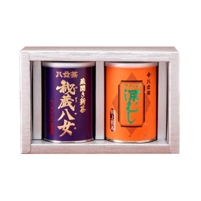 【G-228・コフ】秘蔵八女・マイルド深むし特上 100g×2缶
