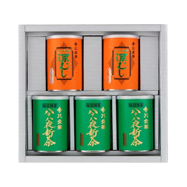 【G-240・アフ】八十八夜新茶・マイルド深むし特上 100g×5缶ギフトセット