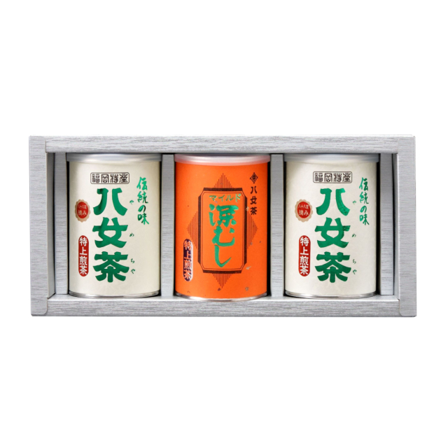 【G-244・ニ】特上煎茶・マイルド深むし特上 100g×3缶ギフト