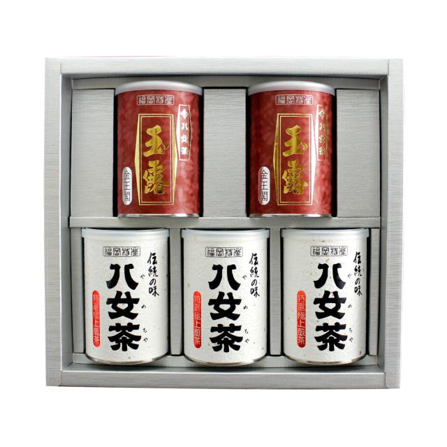 【G-249・ヘル】特選極上煎茶・玉露金 100g×5缶