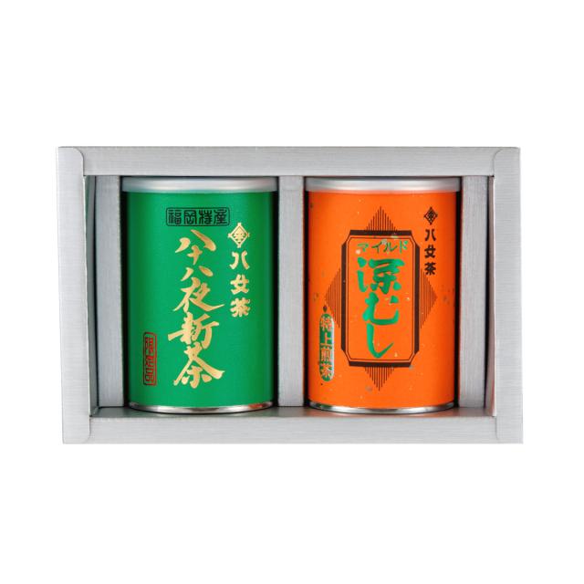 【G-252・アフ】八十八夜新茶・マイルド深むし特上 100g×2缶ギフトセット