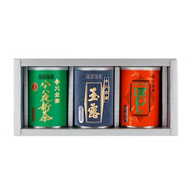 【G-254・キヌチ】特選八十八夜新茶・玉露銀・マイルド深むし特選 100g×3缶