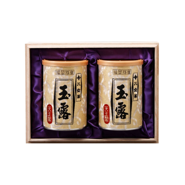 【G-257・ヲ】玉露天王閣 100g×2缶木箱ギフト