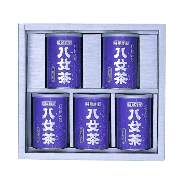 【G-260・ニ】≪仏事用蓮柄≫特上煎茶 100g×5缶