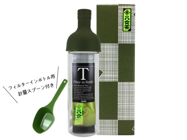 【G-405・夏F】夏茶だより100g入り フィルターインボトル特別ギフト(専用軽量スプーン付き)