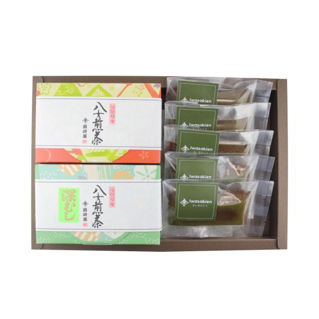 ※ネット限定品※【G-704】八女抹茶フィナンシェ5個・上級煎茶・深むし茶(100g詰)ギフト