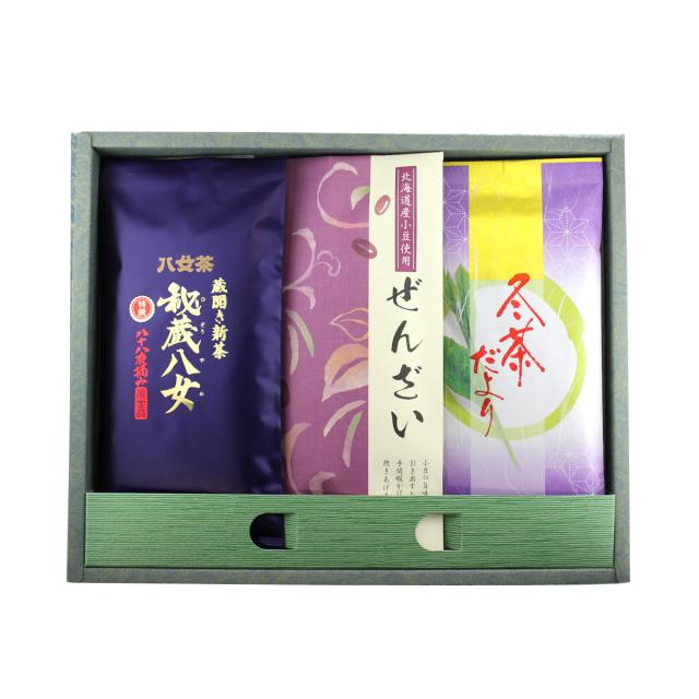 【G-708】上級茶2種とぜんざいギフト