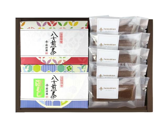【G-710】ほうじ茶フィナンシェ5個・上級特選煎茶・深むし茶(60g詰)ギフト