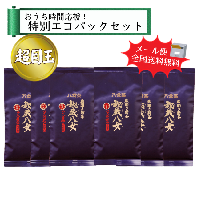【T-371】おうち時間応援☆特選秘蔵八女エコパックセット