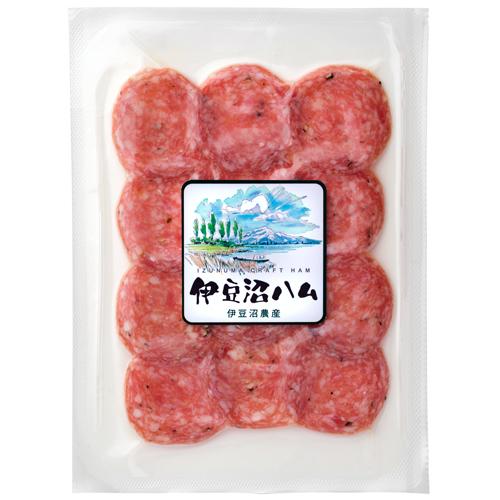 【保存料不使用】伊豆沼めぐみ乳酸菌 発酵生サラミスライス 20g(おつまみ ワインに合う チーズに合う)