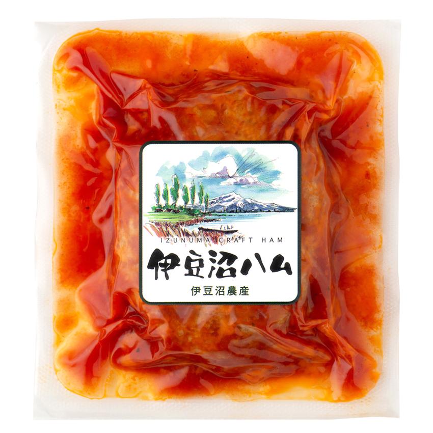 【冷凍保存可】伊豆沼豚 煮込みハンバーグトマトソース140g(くんぺる農場レストラン監修 冷凍惣菜 簡単おかず)
