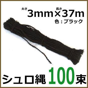 プロ仕様 シュロ縄 37m 100束