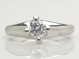 プラチナ ダイヤモンド リング [ダイヤモンド 0.331Ct/VVS1/E/VERY GOOD]